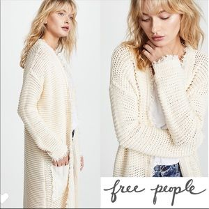 FREE PEOPLE Woodstock Cream Duster